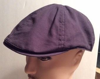 20% OFF SALE Vintage Gap Navy Blue Cotton Newsboy, Cabbie, Driving Hat/Cap