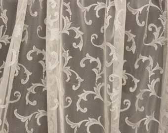 "Lace Drapery Fabric, Paisley Lace fabric, For Drapery, Dress, Home decor, 54"" Wide,"