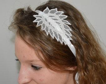 Married headband, beaded wedding headband
