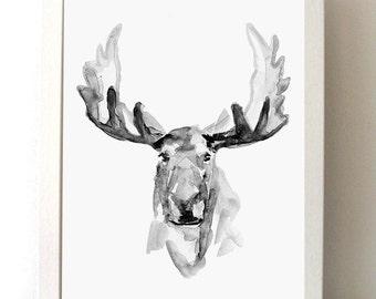 Schaap inkt schilderij giclee print zen stijl schaap for Wit gewei decoratie