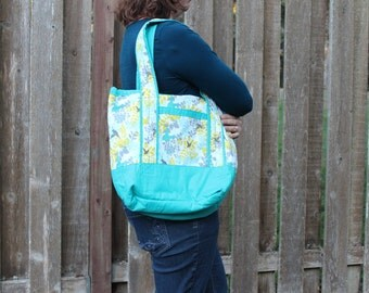 Totes Turquoise Bird and/or Yellow Medallion