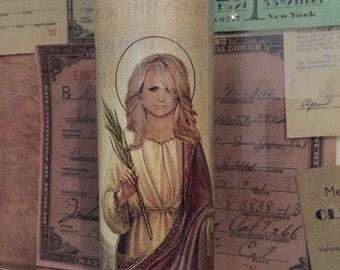 St Miranda Lambert Prayer Candle