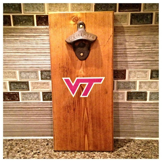 Virginia Tech University Magnetic Bottle Opener With