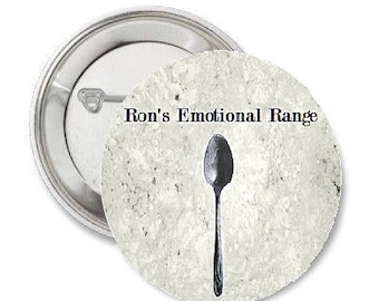 """Inspired by Harry Potter - Ron's Emotional Range - 1.25"""" or 1.5"""" Pinback Button Magnet Keychain Pin Magnet - Ron Weasley - Hermione Granger"""