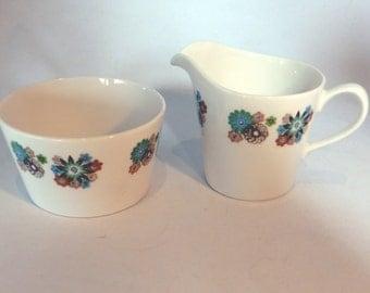 Vintage Crown Royal Milk & Sugar bowl set