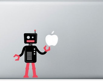 Custom Vinyl Robot Personal Computer Decal for MacBook, PC and More