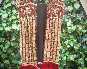 Tribal vintage vest