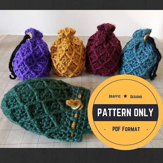 Dragon Egg Dice Bag Crochet Pattern : PATTERN: Dice Bag Dragon Egg crochet by GrafficDesignStudio