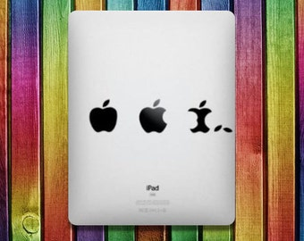 Eat Apple iPad Sticker Decal - decal stickers,  ipad stickers, sticker apple, ipad decals,  ipad sticker, sticker ipad