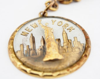 Vintage Statue of Liberty New York Keychain