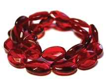 Red Oval Beads, Cherry Red Beads, Red Beads, Red Oval Beads, Cherry Beads, Cherry Oval Beads, Oval Red Beads, Oval Cherry Beads, Red Glass