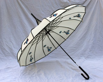 Mary Poppins Silhouette Umbrella/Parasol