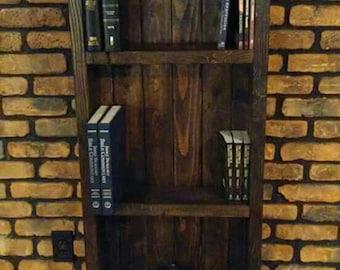 Handmade country, rustic bookshelf