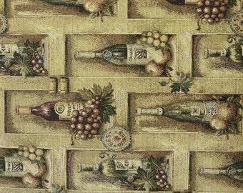 Wine Bottles Tapestry Fabric