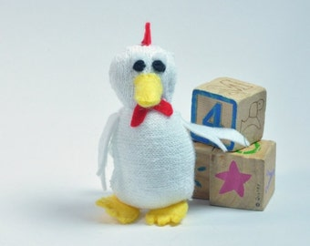 Miniature chicken sock toy stuffed animal