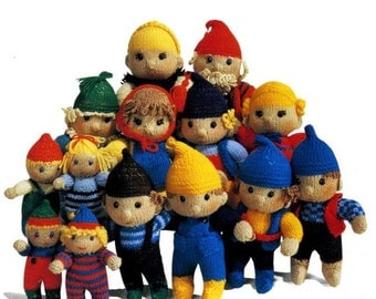 elf family toy knitting pattern 99p pdf