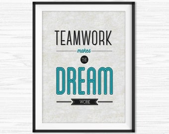 Office Teamwork Quotes Wall Art Printable Success Quotes Motivational Wall  Decor Office Wall Quotes Inspirational Quote
