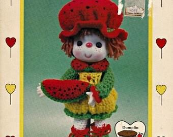 """Crochet Pattern """"Watermelon Slice"""", Crochet Doll Pattern, Crochet Projects, Crochet Dress Pattern, Vintage Crochet Patterns"""