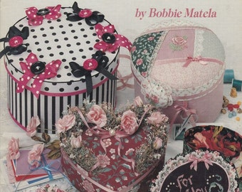 Beginner's Guide To Decorating Band Boxes by Bobbie Matela, Fusible Crafts, No Sew Appliqué