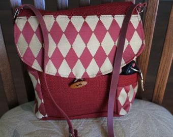 messanger handbag,adjustable strap,cotton fabric,