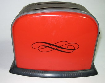 Vintage Ohio Art Red and Black Toy Toaster