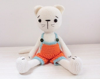 PATTERN : Cat - Kitty - Amigurumi Cat pattern - Crochet pattern-Stuffed animals- doll-toy-baby shower