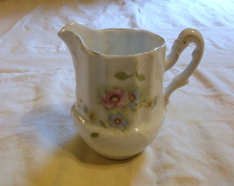 Vintage Creamer Pink and Blue Floral Pattern