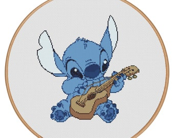 MORE for FREE - Lilo and Stitch - Counted Cross stitch pattern PDF-Instant Download-Cross Stitch Pattern - Children-Kids-Needlepoint - #1618
