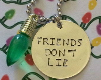 Stranger Things friends don't lie necklace