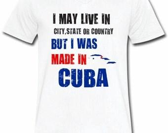 I Was Made In Cuba T-shirt V-Neck Tee Vapor Apparel With Custom Text
