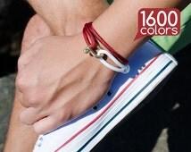 Mens copper bracelet - Copper bracelet for men with unique copper clasp. 1600 colors - pick up to match the shoes!