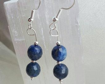 Lapis Lazuli  Earrings crystal