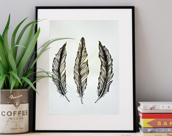 S A L E! ORIGINAL ink feather drawing