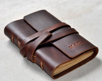 Personalized Leather Journal, leather Diary,Leather NoteBooks,leather sketchbook  (free stamp)