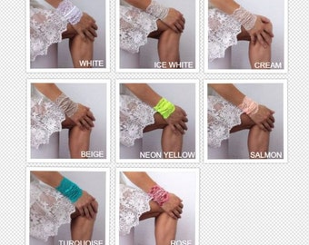 WRIST CUFF, lace wrist cuff, thick wide lace jewelry, lace arm band, Tattoo Cover Up, Bohemian Wristband,
