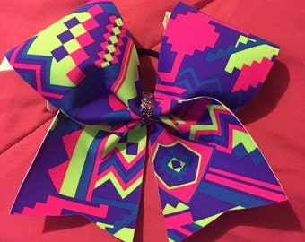 Neon Aztec Bow