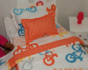 Doll Bedding  - Bicycles