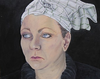 High quality giclee print: Woman With Teatowel On Her Head
