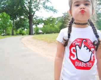 Stop Diabetes Shirt/Type One/Type Two/Stop Diabetes/Diabetes shirts/Toddler shirts/Adult shirts/Diabetes Awareness
