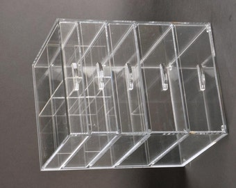 GlamoureBox Clear Acrylic Makeup Organizer With 5 Drawers A5R