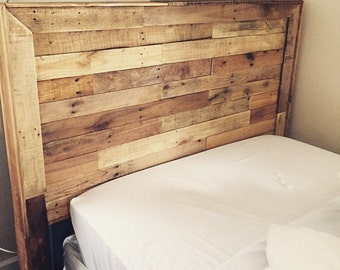Pallet wood headboard-SHIPPING INCLUDED