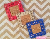 3 for 1 Red, Blue & Tan Mini Hand Painted Jewelry Organizers