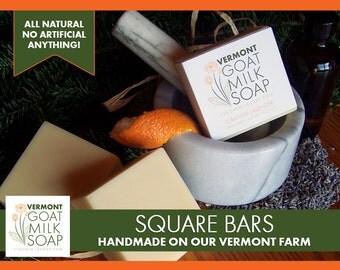 Goat Milk Soap Square Bar (4oz) Handmade in Vermont
