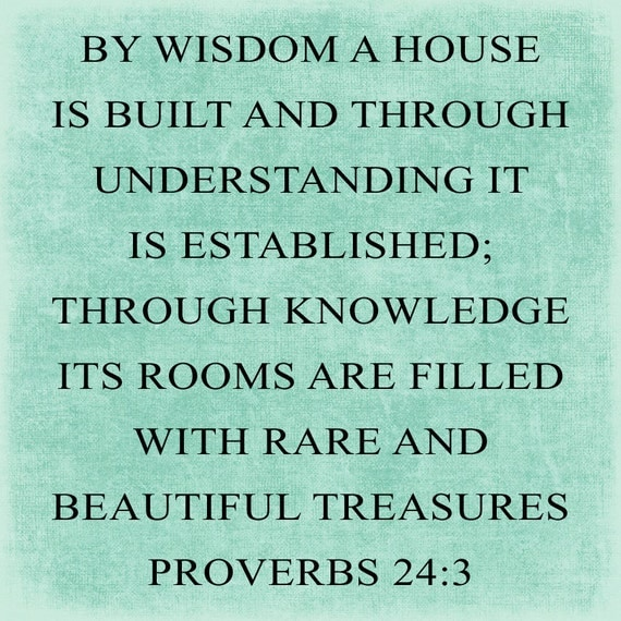 SVG, DXF & PNG - By Wisdom a House is Built ...