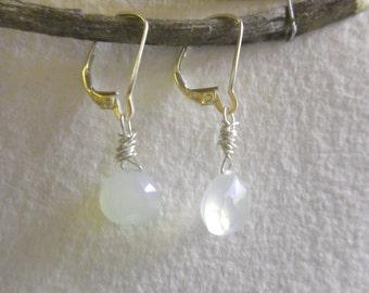 Sterling & Peruvian Opal Earrings