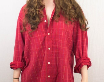 Red Checked Shirt 1980s