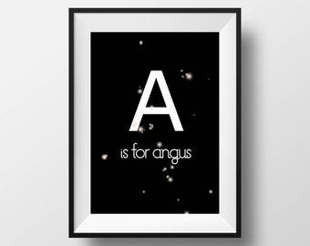 Custom Alphabet Letter Print