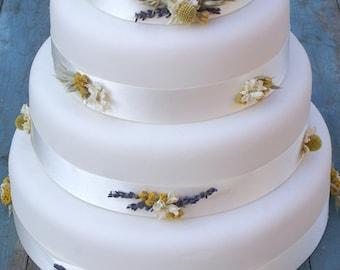 Boho Sunshine Dried Flower Cake Ribbons