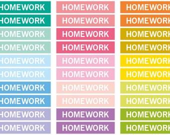 Homework Heading stickers, planner header stickers, planner stickers, agenda notebook journal stickers, eclp filofax happy planner kikkik