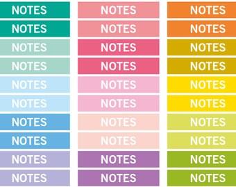 Notes Heading stickers, planner header stickers, planner stickers, agenda notebook journal stickers, eclp filofax happy planner kikkik